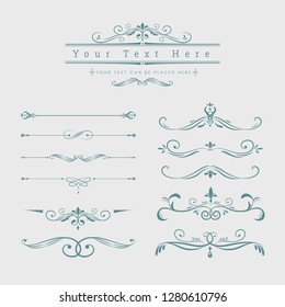 Decorative calligraphic ornaments vector set