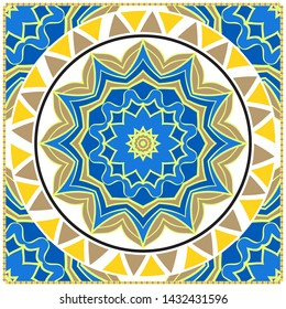Decorative card with mandala. vector illustration