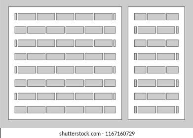 Decorative card set for cutting laser or plotter. Linear geometric pattern panel. Laser cut. Ratio 1:2, 1:1. Vector illustration.