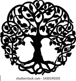 Decorative Celtic Tree of Life Ornament