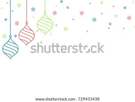 decorative christmas themed background stock vector royalty free