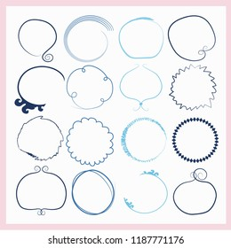 decorative circles set .round frames collection