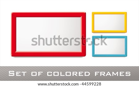 Decorative Colored Frames Web Design You Stock Vector (Royalty Free ...