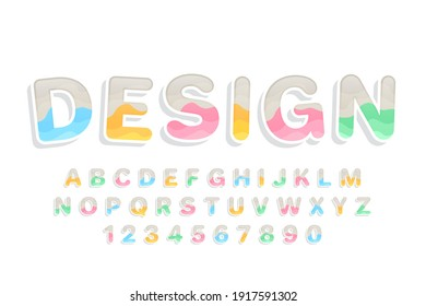 decorative colorful Font and Alphabet