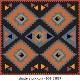 Decorative colorful pattern with a vibrant original African feel or native American influence