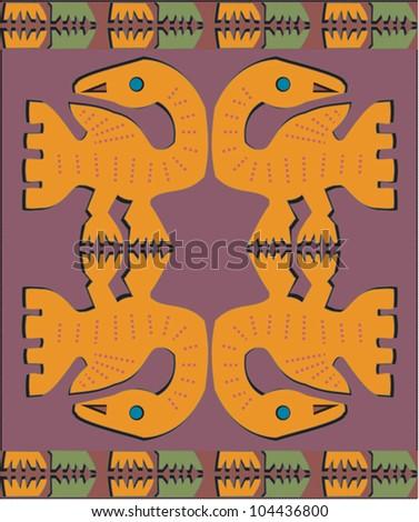 Decorative Colorful Pattern Vibrant Original African Stock Vector