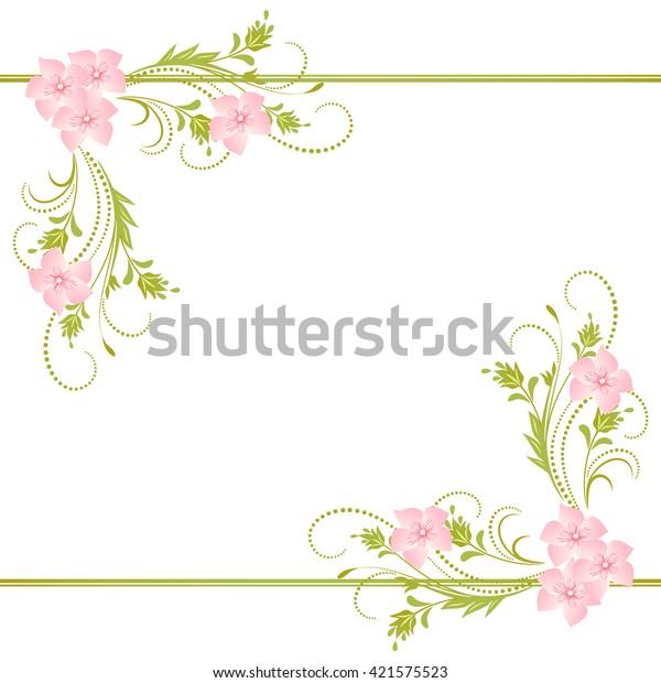 decorative corner floral ornament stock vector royalty free 421575523 shutterstock