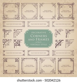 Decorative corners and frames - vintage style