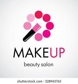 Decorative cosmetic, makeup, beauty salon, stylist vector logo design template.