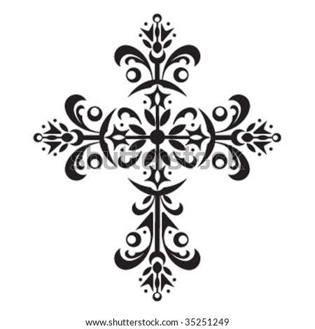 Decorative Cross Stock Vector (Royalty Free) 35251249 ...