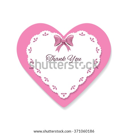 decorative cut out heart template place stock vector royalty free