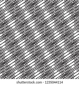 Decorative diagonal line vector seamless pattern