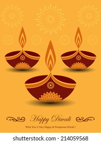 Decorative Diwali Lamps Design