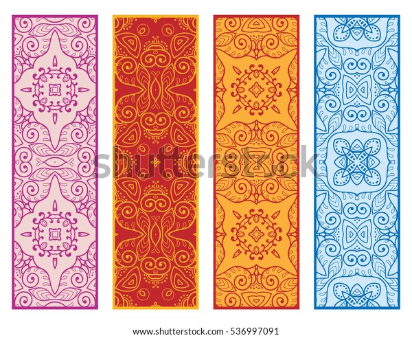 Decorative Doodle Lace Borders Patterns Tribal Stock Vector Royalty Free 536997091