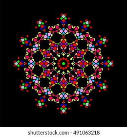 Decorative and elegant design vector, imitating to stained glass of several colors 2