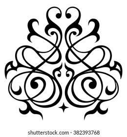Decorative element traditional damask pattern