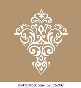 Decorative element traditional pattern.Classic oriental background.