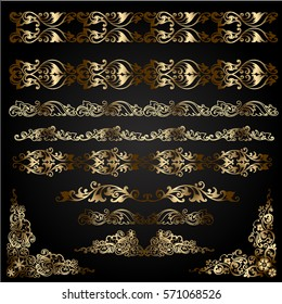 decorative elements for design. background for cover sheet