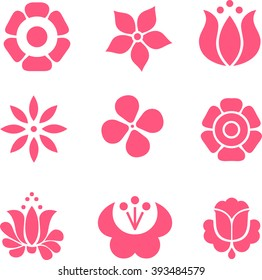 Decorative flat flowers