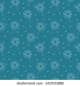 Decorative, floral abstraction made in a seamless vector.