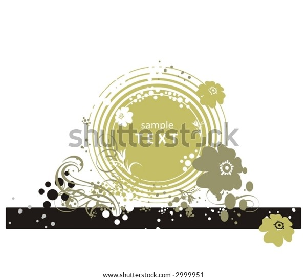 decorative floral background in vector