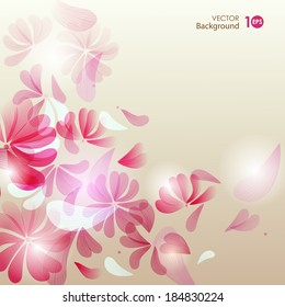 Decorative floral background. Vector eps 10.