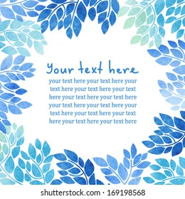 Decorative floral card with place for your text