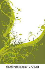 decorative floral frame, vector illustration