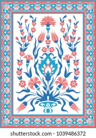Decorative floral ornament. Ornate decor for invitation, greeting card, background