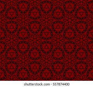 Decorative floral ornament. seamless pattern. red color. vector illustration. for interior design, wallpaper, invitation