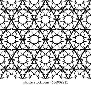 Decorative floral ornament. seamless pattern. vector illustration. for interior design, wallpaper, invitation