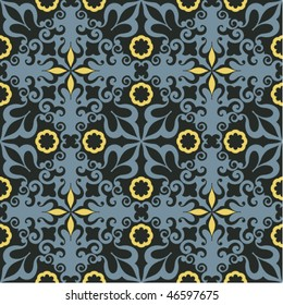 decorative floral pattern, seamless vector background