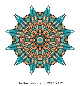 decorative flower coloring mandala. vector illustration. for greeting card, invitation, tattoo, spa, yoga symbol.