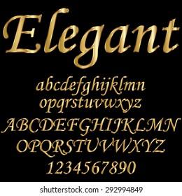 Decorative font - gold