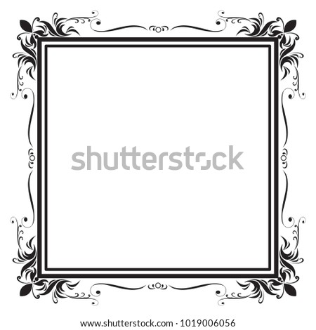 Decorative Frame Border Design Birthday Greeting Stock Vector