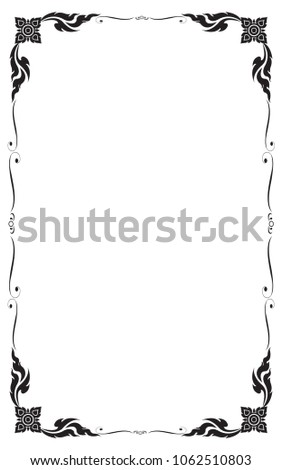 Decorative Frame Border Design Greeting Card Stock Vector Royalty