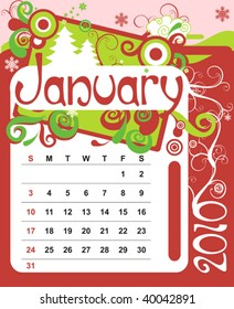 Decorative Frame for calendar - January