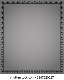 Decorative frame Elegant vector element for design in Eastern style, place for text. Floral black border. Lace illustration for invitations and greeting cards