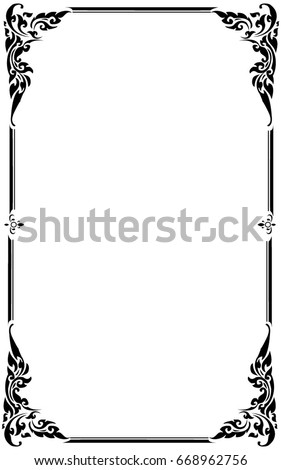 decorative frames borders on white background のベクター画像素材