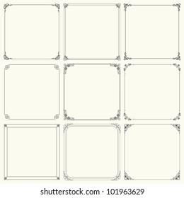 Decorative frames (set 17)