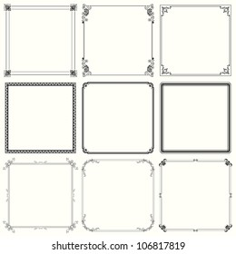 Decorative frames (set 24)
