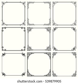 Decorative frames (set 43)