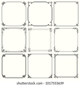 Decorative frames (set 58)