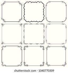 Decorative frames (set 59)