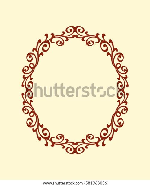 Decorative frames .Vintage vector.Well built for easy editing.Brown .Vector illustration.