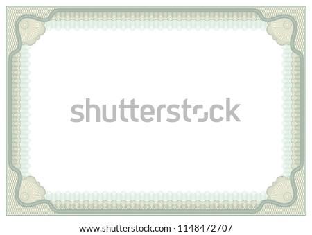 Decorative Framework Awards Certificates Securities A 4 Stock Vector ...