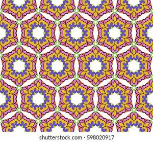 decorative geometric floral pattern. seamless vector illustration. for wallpaper, invitation, fabric textile