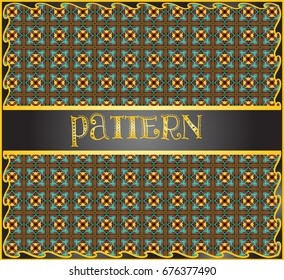 Decorative geometric pattern background