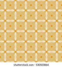 decorative geometric seamless pattern. vector illustration. for interior design, wallpaper, invitation. orange color