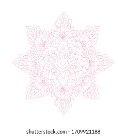 Decorative hand drawn mandala, design element. Can be used for cards, invitations, banners, posters, print design. Mandala background